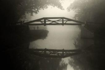 Foggy Washington Crossing Bridge
