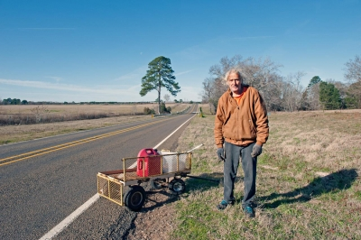 Brian Lav: Man on Highway, Elkhart, Texas