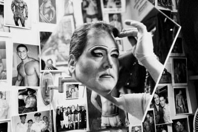 Michael Lang: Lena Lett Applying Makeup, from the series The Drag Illusion