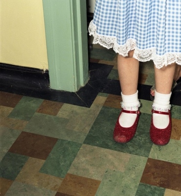 Lisea Lyons: Untitled (red slippers)