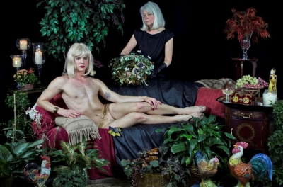 Gray Swartzel: Self-Portrait as Olympia with Mother, from the series Blood Harmony