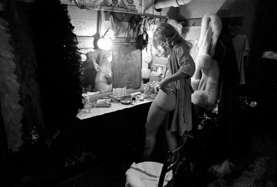 Robert Adler: Stripper Getting Dressed, Troc Burlesque Theater, Philadelphia, 1974