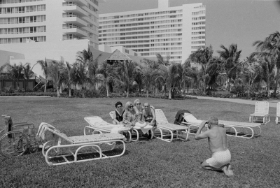 Janice Lipzin: Woman in Cast, Miami Beach, from a body of work Growing Up: Miami Beach to the Big Apple, circa late '70s