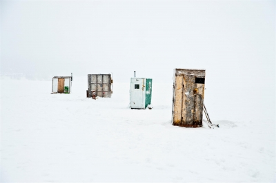 Linda Rutenberg: Fishing huts #4, Gaspe 2013, from the series The Gaspe Peninsula: Land on the Edge of Time