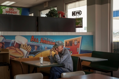 Tracy Fish: Waiting, McCammon, Idaho, from the series When the Road Seeks