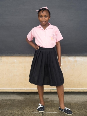 Judy Gelles: Fourth Grade Girl, St. Lucia, Public School. Fourth Graders from around the world answer three questions: Who do you live with? What do you wish for? and What do you worry about?