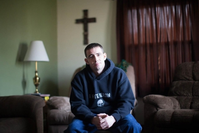 Jillian Bauer: Life After Addiction (Michael Milne has been in recovery from heroin addiction since February 16, 2012. Photograph taken at Michael's home in Coal City, Illinois.)