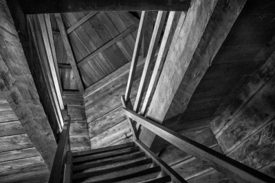 Larry Jones: Blockhouse Interior, Fort Ross, Sonoma County, California