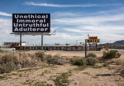 "Jennifer Little: Budget Motel, Mojave, CA, from the series ""Aqueduct City"" about the communities along the Los Angeles Aqueduct"