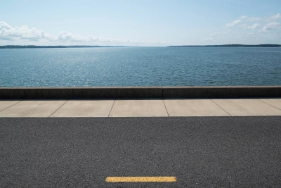 "Frank Sherwood White: US 62 Kentucky Dam, from the series ""Movement in a State of Rest"""
