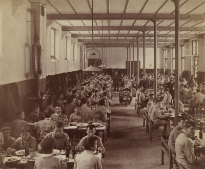 Jean R. Berthaud: The Dining Hall at the Diderot School