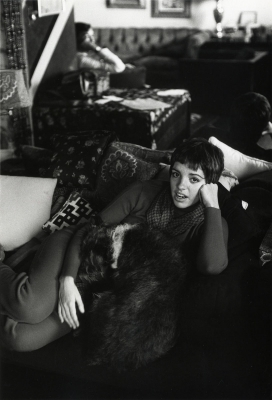 Burt Glinn: Liza Minelli in her small, two-room apartment on East 57th Street, New York