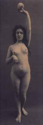 Unknown: Nude holding ball