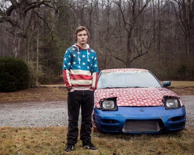 Jennifer Garza-Cuen: Untitled - Boy with Gift Wrapped Car, Raburn, GA