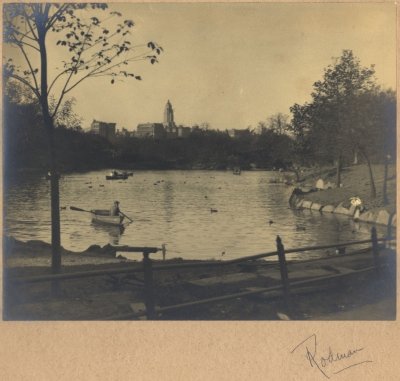 Rodman: Central Park Lake with Boaters