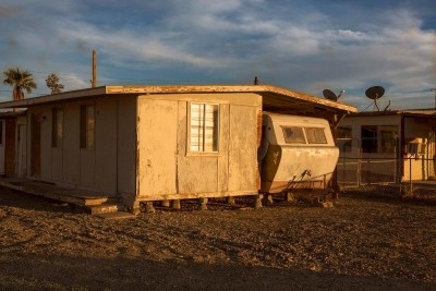 John Wyatt: House and Trailer, Bombay Beach, CA, 2016