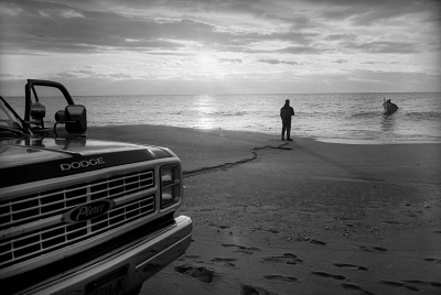 Michael Ruggiero: Coast Guard Beach, Amagansett, NY – 2015, from 'Last Baymen of Amagansett' series
