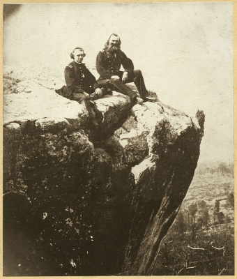 Mathew Brady or Associate (attrib.): General Daniel C. McCallum and Captain Stephen A. Hurlbut on Lookout Mountain, Tennessee