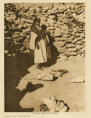 Edward S. Curtis: Dressing the Flute Maiden, from The North American Indian, Volume 12
