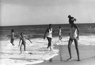 Chester Higgins, Jr.: Kids Playing at Beach
