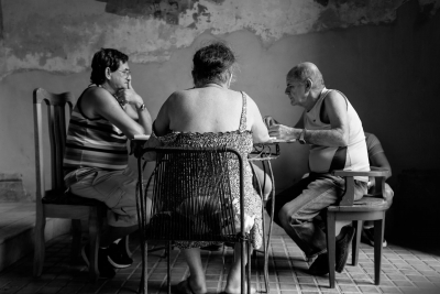 Christine L Mace: Dominoes in Havana 1, 2018