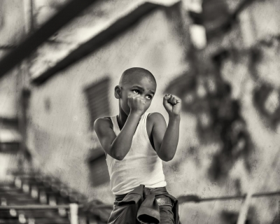 John Stritzinger: Boy Boxing in Havana