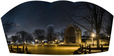 Margaret Ariail: The Bandshell at Night, Central Park