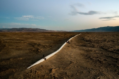 Jennifer Little: Los Angeles Department of Water and Power: Irrigation Pipe, Owens Lake, CA