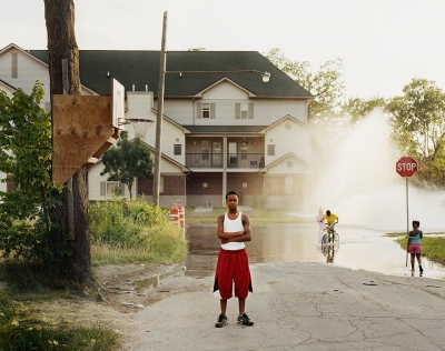 "Daniel Farnum: Open Fire Hydrant, Detroit, MI, from the series ""Young Blood"""