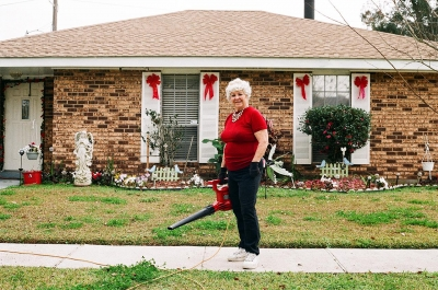 Ryan Greenberg: Shirley Lumpkin outside her house. Marrero, Louisiana 15'
