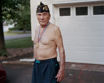 Ilisa Katz Rissman: Dad Wearing Veteran's Hat and Medal