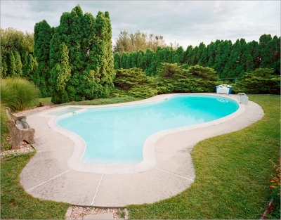 Nicolas Bowen: Pool at Dusk, Kutztown, PA, 2018