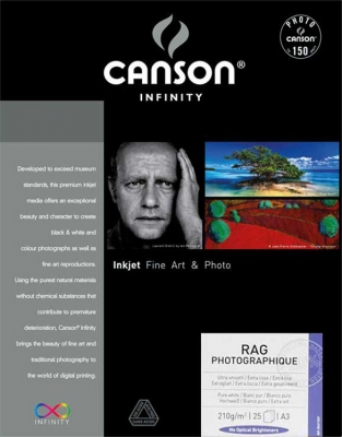 Canson Rag Photographique Inkjet Paper, 13˝x19˝, 25 sheets, 310 gsm
