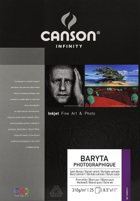 Canson Baryta Prestige Inkjet Paper, 13˝x19˝, 25 sheets, 340 gsm