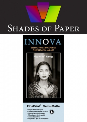 "Shades of Paper: A Box of the Innova FibaPrint Semi Matte White, 300gsm, 13""x19"", 25 Sheets"