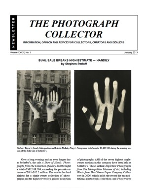 The Photograph Collector, Volume XXXIV, No. 1 (January 2013)