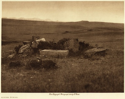 Edward S. Curtis: Atsina Burial, From The North American Indian, Volume 5