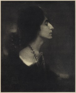 Eduard Steichen: Profile, 1906, photogravure, published in Camera Work, The Steichen Supplement, April 1906