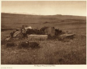 Edward S. Curtis: Atsina Burial, From The North American Indian, Volume 5  (front & back covers)