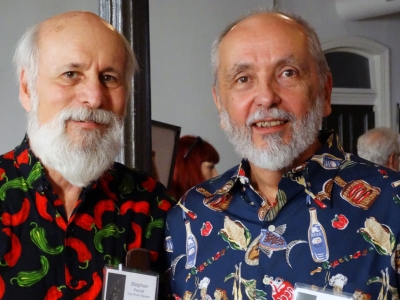 Photo Review Editor Stephen Perloff and Edward Nowak vie for the Best Shirt award. Photo: Gary Saretzky.