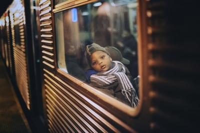 Ashley Comer: Boy on Subway, 12/12/2016