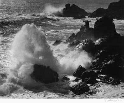 Ansel Adams: Storm Surf, Timber Cove, California