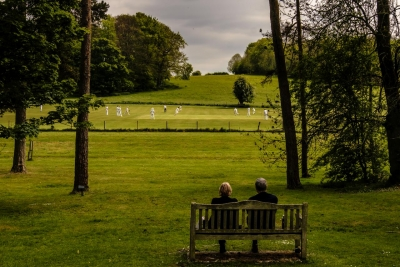 Neil Allen: Contemplation and Cricket, Chawton, England, 2017