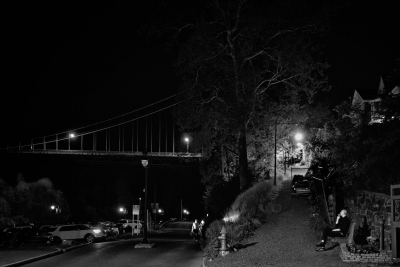 Ken Dreyfack: Smoker & Bridge, Kingston, NY, 2018, from the Mine: Kingston series