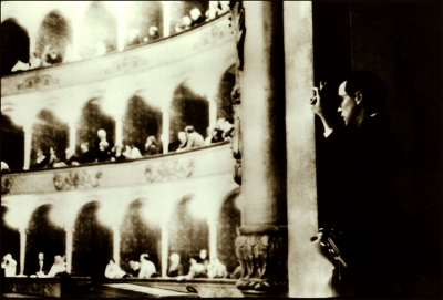 Peter Angelo Simon: Opening Night, Robert Wilson in The Rome Opera House, opening night of The Civil Wars (Rome Section), March 1986