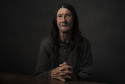 Doug Winter: Jimmie, Friendship Park, 2019 Jimmie is homeless and has been a guest of Friendship Park for 10 years. This portrait is from a project that focuses on the equality of healthcare and the treatment of homeless in hospitals and care facilities.