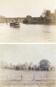 Unknown: Riverboat Lafayette on the Schuykill River / Mansion, Philadelphia, PA
