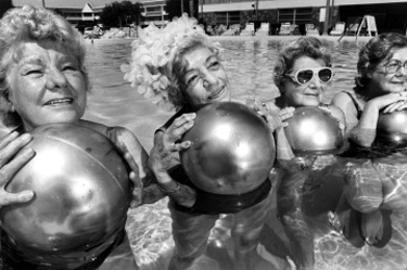 Water exercise group, St. Petersburg, Florida, 1986